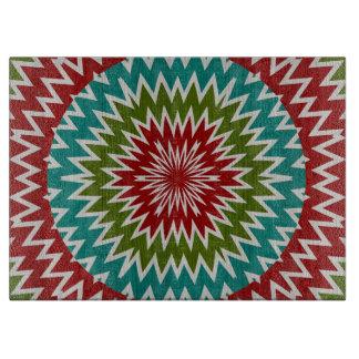 Hypnotic mandalaic flower cutting board