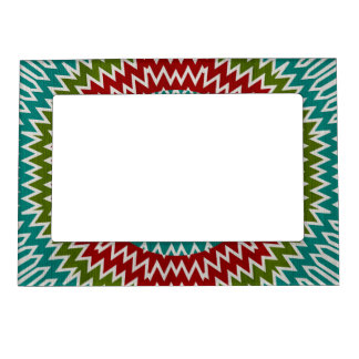 Hypnotic mandalaic flower magnetic picture frame