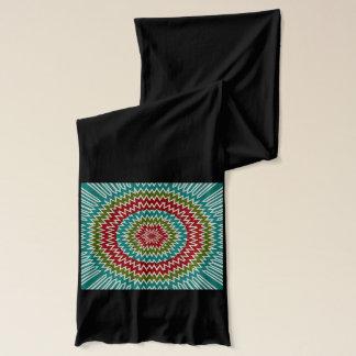 Hypnotic mandalaic flower scarf