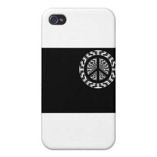 HYPNOTIC PEACE SIGN iPhone 4/4S COVER