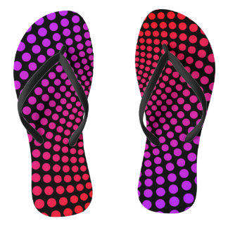 Hypnotic Polka Dots Psychedelic Pop Art Pattern Thongs