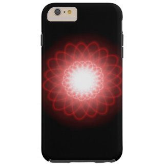Hypnotic Red Swirls Abstract Tough iPhone 6 Plus Case