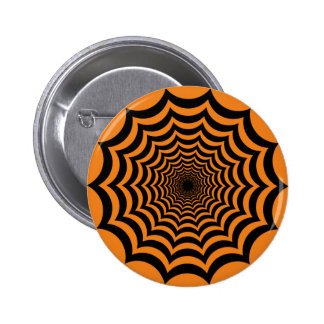 Hypnotic Spider Web Halloween Pin