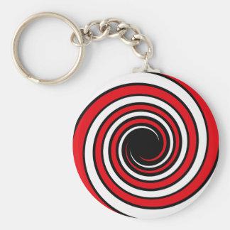 hypnotic spiral keychain