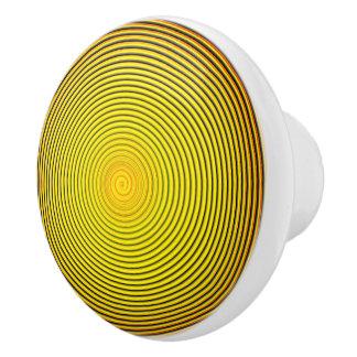 Hypnotic Spiral Of The Sun Ceramic Knob