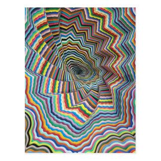Hypnotic Spiral Postcard