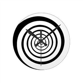 hypnotic spiral round clock