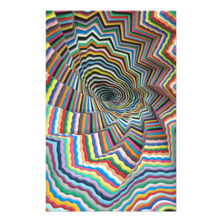 Hypnotic Spiral Stationery Paper
