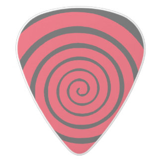 hypnotic spiral white delrin guitar pick