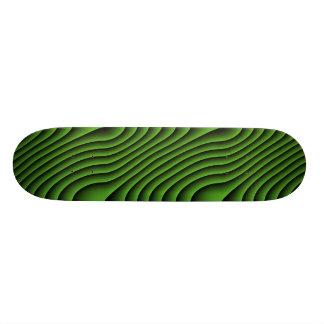 Hypnotic Wavy Green Lines Skateboard