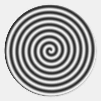 hypnotising round sticker