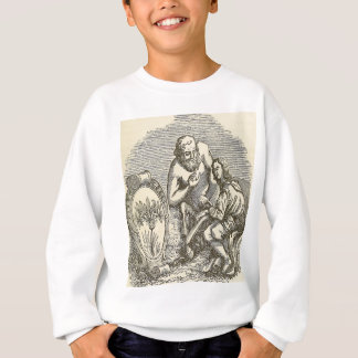 Hypnotism Drawing with Mirror Sweatshirt