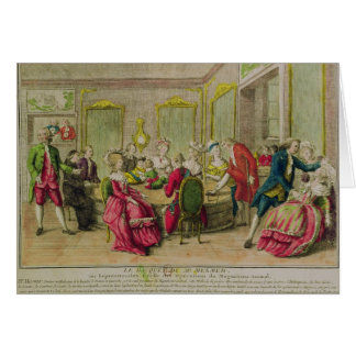 Hypnotism Session with Franz Anton Mesmer  1784 Card