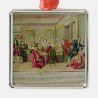 Hypnotism Session with Franz Anton Mesmer  1784 Metal Ornament