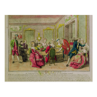 Hypnotism Session with Franz Anton Mesmer  1784 Postcard
