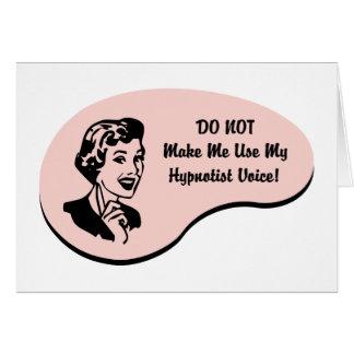 Hypnotist Voice Card
