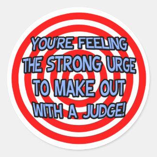 Hypnotize .. Funny Judge Round Stickers