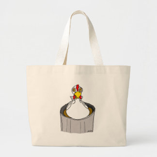 ;Hypnotized Chicken Large Tote Bag