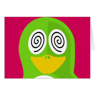 Hypnotized Penguin Card