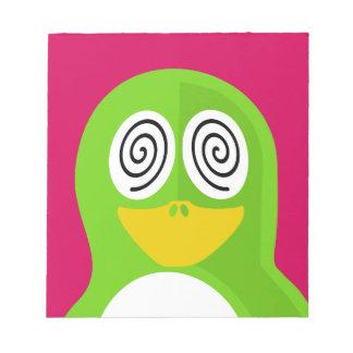 Hypnotized Penguin Notepad