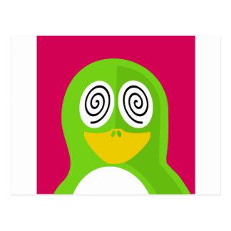 Hypnotized Penguin Postcard