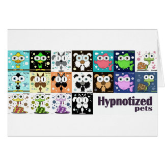 Hypnotized Pets Card, white envelopes included Greeting Card