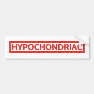 Hypochondriac Stamp Bumper Sticker