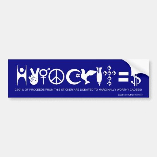 Hypocrites-The Bumper Sticker Car Bumper Sticker
