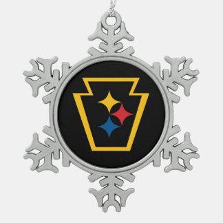 HypoKeystone Metal Snowflake Ornament