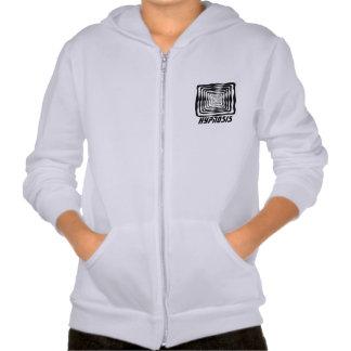 hyponisi fleece zip hoodi hooded sweatshirt