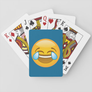 Hysterically Laughing Emoj Playing Cards