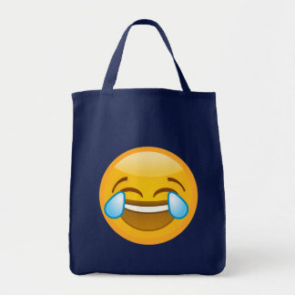 Hysterically Laughing Emoj Tote Bag