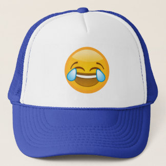 Hysterically Laughing Emoj Trucker Hat