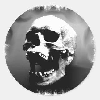 Hysteriskull Laughing Human Skull Round Sticker