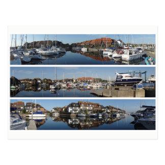 Hythe panoramas postcard