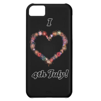 I <3 4th July fireworks designs Cover For iPhone 5C