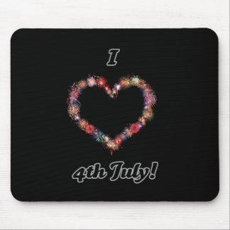 I <3 4th July range Mousepad