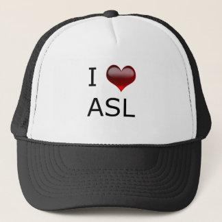 I <3 ASL TRUCKER HAT