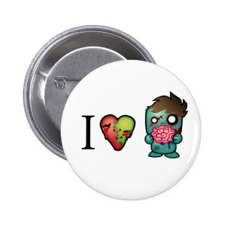 I <3 Brains- Zombies Are Everywhere! 6 Cm Round Badge