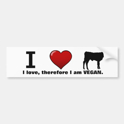 I <3 calves (Animal Rights design by Marlaina) Bumper Stickers