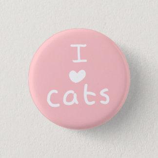 i <3 cats badge