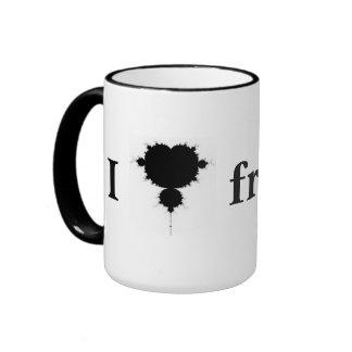 I <3 fractals ringer mug