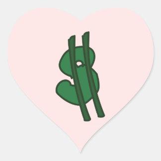 I <3 $ HEART STICKER