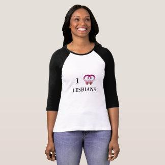 I <3 Lesbians Baseball T-Shirt