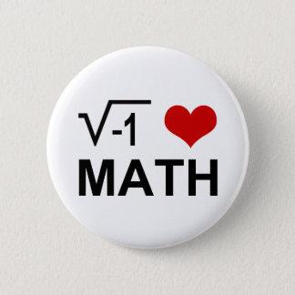 I <3 Math 6 Cm Round Badge
