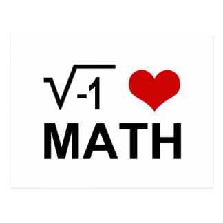 I <3 Math Postcard