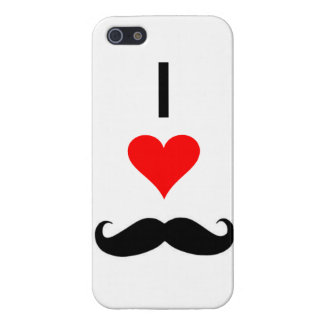 i <3 mustaches iPhone 5/5S cases