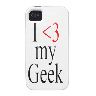 I <3 my geek iphone case Case-Mate iPhone 4 cases