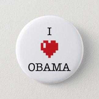 I <3 Obama button badges