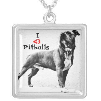 I <3 Pitbulls Necklace